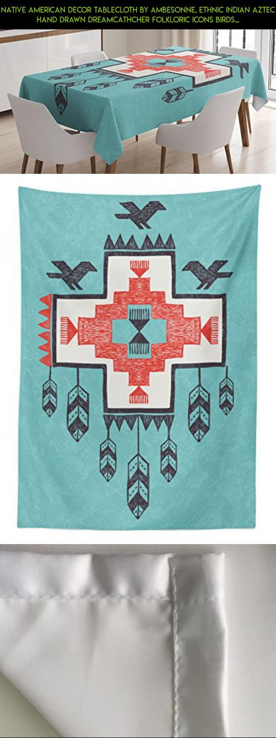 Native American Decor Tablecloth by Ambesonne, Ethnic Indian Aztec Hand Drawn Dreamcathcher Folkloric Icons Birds Image, Dining Room Kitchen Rectangular Table Cover, 60W X 84L Inches, Multi #shopping #fpv #technology #camera #racing #indian #parts #kit #outdoor #drone #products #plans #gadgets #decor #tech