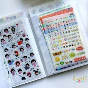 10 Ways to Organize your Planner Stickers - Sticker storage in a dollar store photo album ##