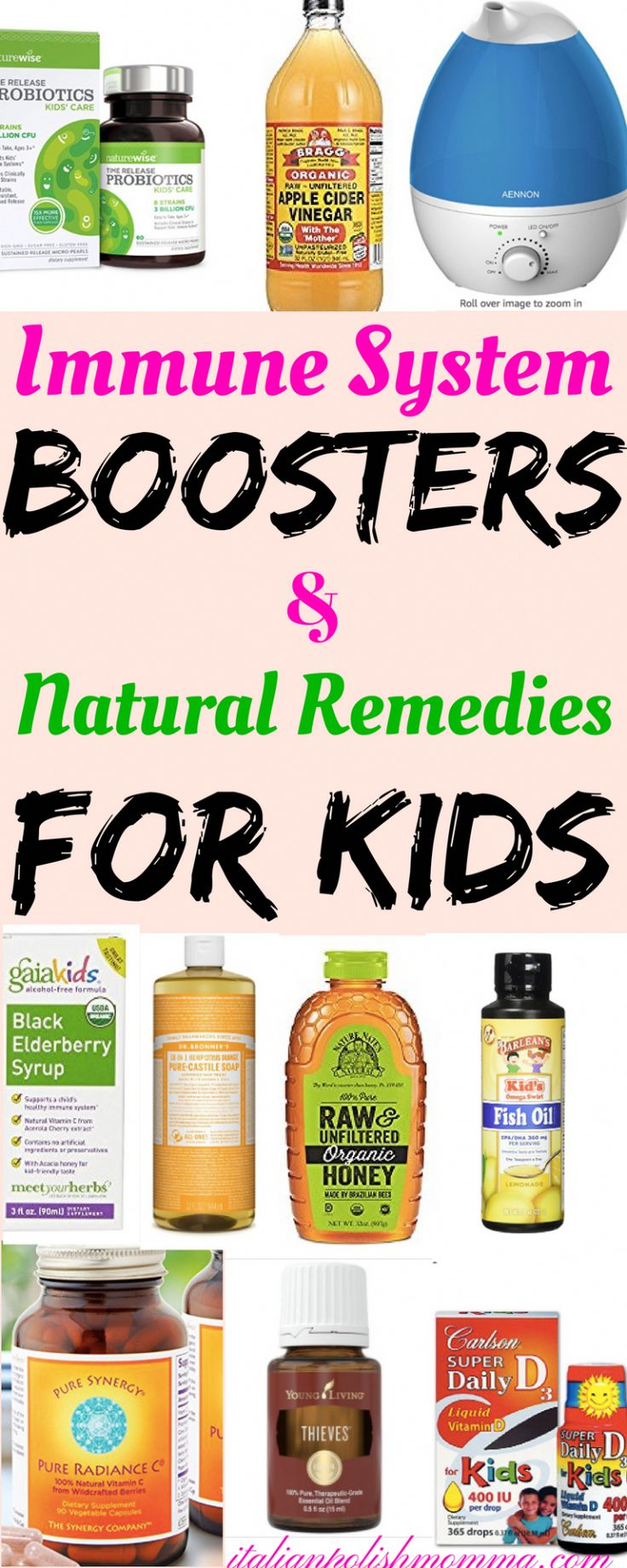 Immune system boosters, vitamins, and natural remedies for