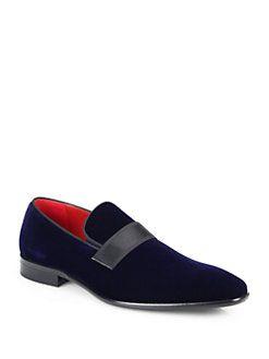 BOSS HUGO BOSS - Eveltos Velvet Loafers