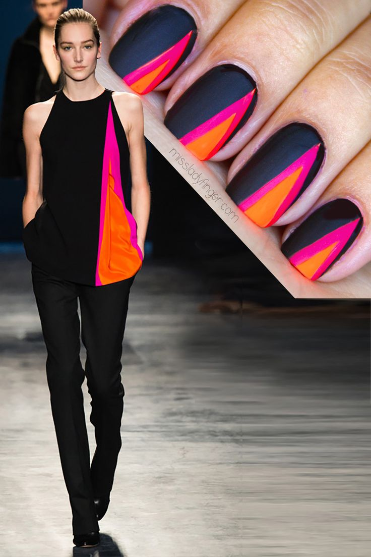 neon and black matchy matchy