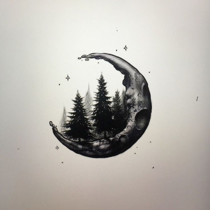 919×919 Encre de lune croissant Crescent, lune et tatouage – Brooke Shull – …   – Tatoos