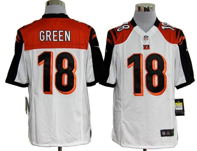 Nike NFL Jerseys Cincinnati Bengals A.J. Green #18 White  Reliable online store for cheap NIKE NFL Cincinnati Bengals  Jerseys, 2012 New collection, top quality with most favorable price. please click: http://digjersey.com/nike-nfl-jerseys-cincinnati-bengals-c-129_133.html