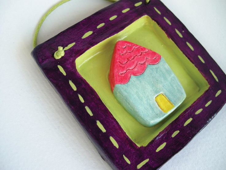 A House clay tile - home decoration. on Etsy.