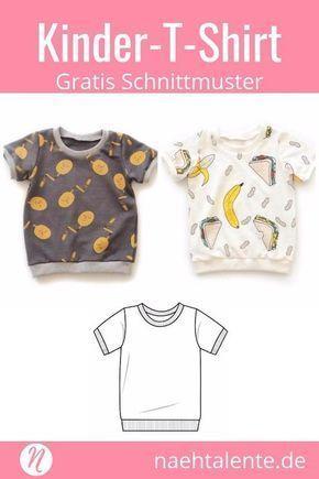 T-Shirt für Kinder – Freebook für Kurz- und Langarmshirts   – DIY Ideen und DIY Projekte