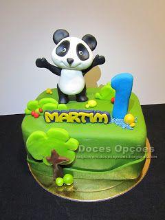 Doces Opções: Bolo com o Panda para o 1º aniversário do Martim