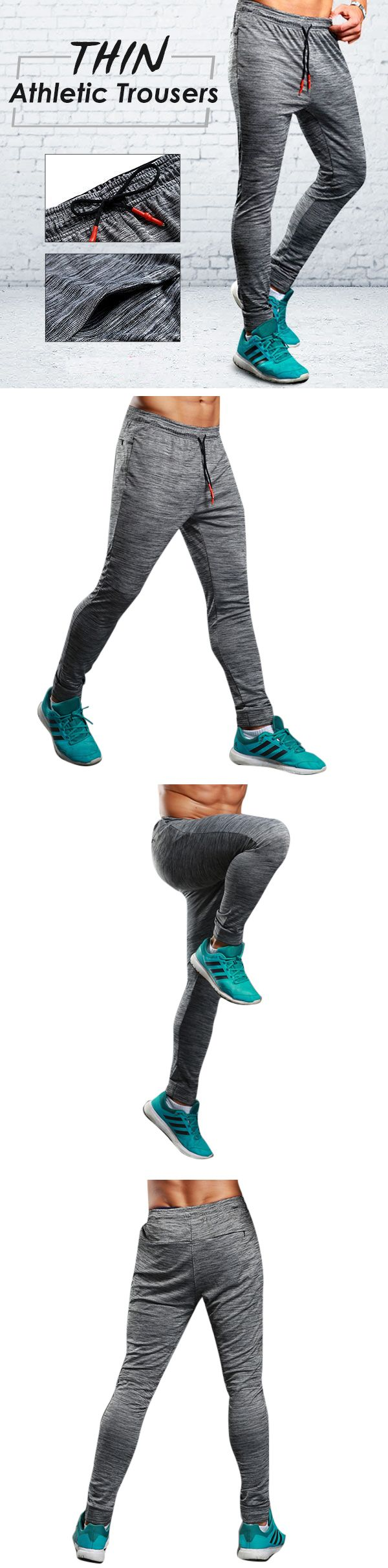 Gym Outfit: Mens Running Trousers: Bodybuilding/ Joggers /Elastic /Pencil Thin /Breathable