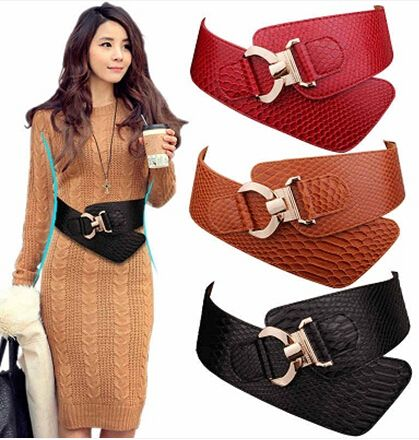wide belts for women   2014-Newest-Design-Women-s-Decoration-Belt-Crocodile-Leather-Belt ...