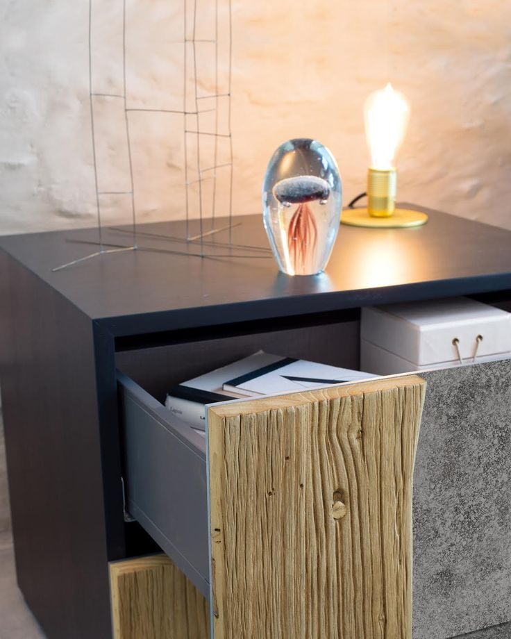 LINK | The Link bedside table joins the bed and shares with it the antique wooden detail, a distinctive feature of the Nature Design production. The detail that turns into a handle is matched to the frontside in oxidized metal that enriches the furniture and makes it personal and unique. #NatureDesign #MadeinItaly