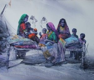 ali abbas art | Wandering Colours, a solo show of paintings on exhibition in September ...