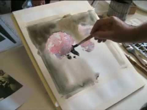 Lezione di acquerello di Angelo Gorlini a Feltre - 2009 - YouTube