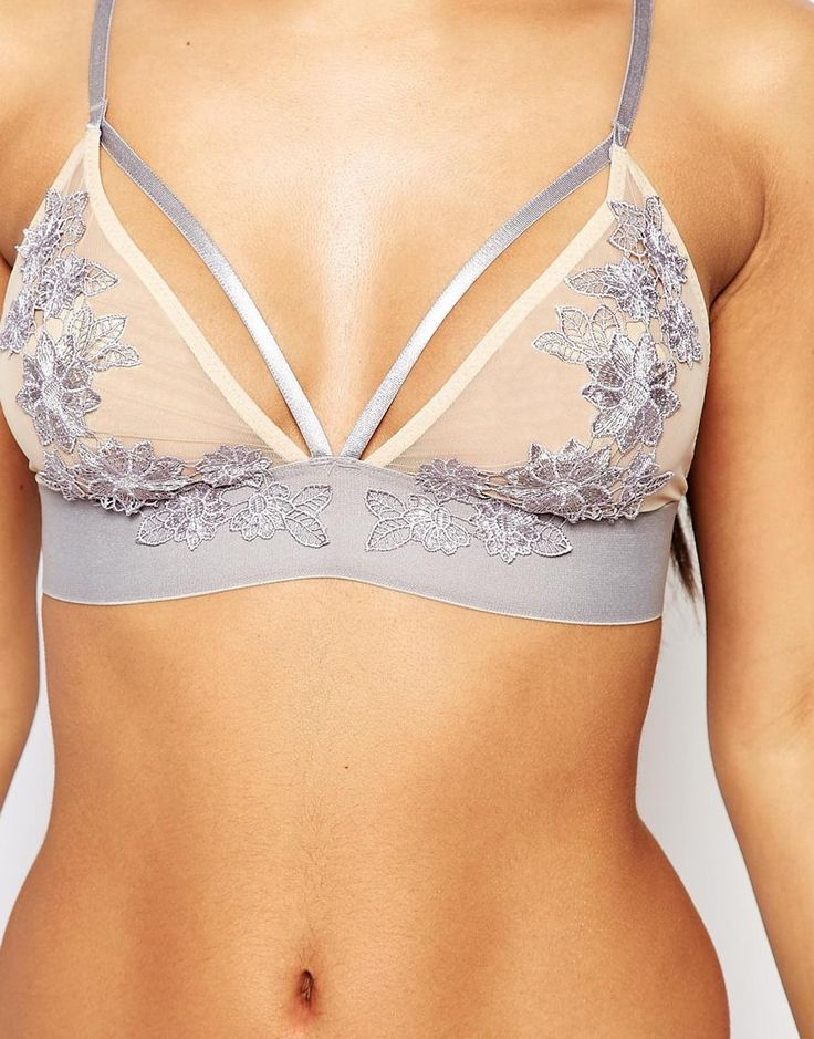 Image 3 of River Island Applique Mesh Bra