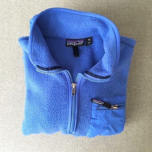 Vintage Patagonia fleece jacket Vintage Patagonia fleece jacket size 12 (l), can fit a 10 (m).  EUC. Patagonia Jackets & Coats