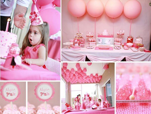 Birthday Party: Pink Desserts, Pink Pink Pink, Pink Birthday Parties, Baby Shower Ideas, Company Picnic, Parties Stuff, Birthday Parties Ideas, Girls Parties, Pink Parties