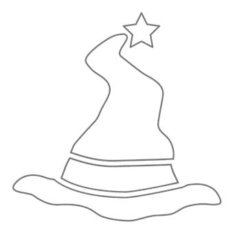 witch hat pumpkin stencil magical crafting halloween