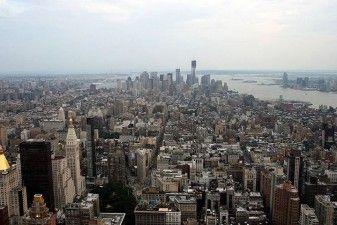 New York, Skyline dall' Empire State Building - Lower Manhattan e Ground Zero in costruzione