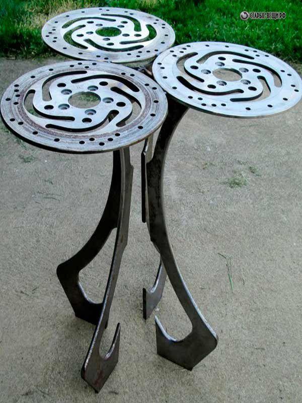 Столы из деталей машин