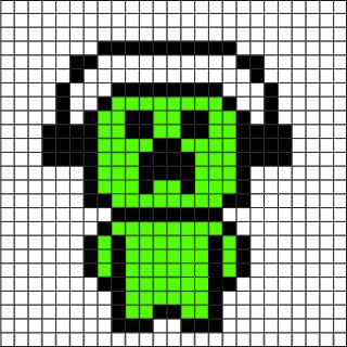 Creeper pixel art grid