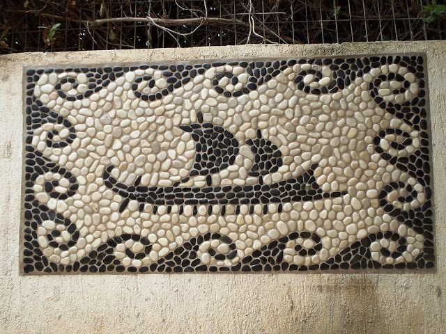 Nature pebble mosaic instaled and leveled on wall. More of my art: https://www.facebook.com/Votsalotos   Thank you Nikolas Asvestas.