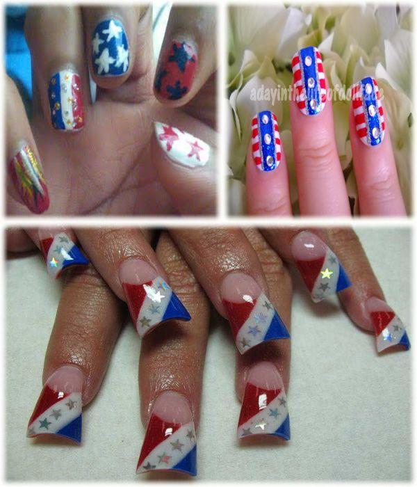4th july nail art design