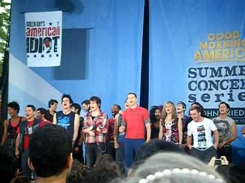 Part of the Sound checks at the GMA concert series in the park when American Idiot performed