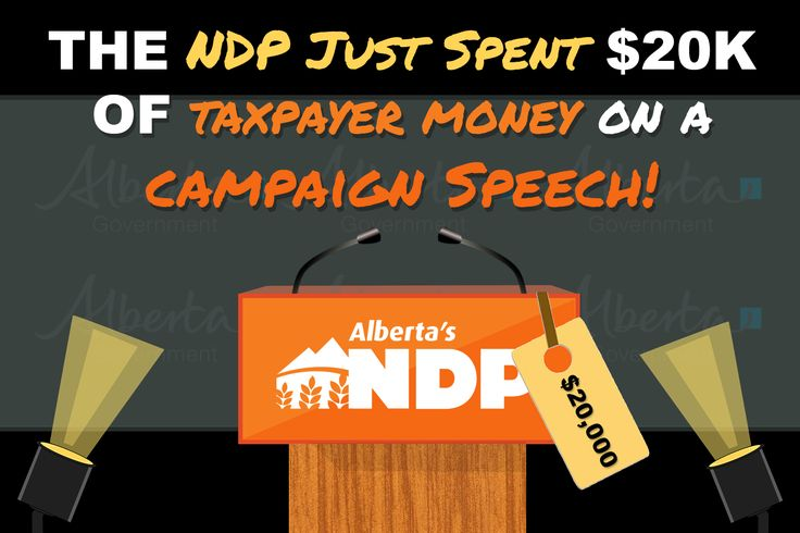 Rachel Notley spends $20,000.00 of taxpayer's money on a campaign speech!!!