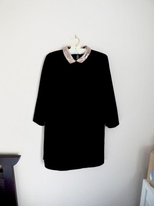🌸 Robe noire - Zara - Col claudine 🌸 - vinted.fr