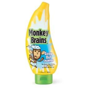 Monkey Brains SHAMPOO MONKEY B GOOP OUT 340ML Especial para retirar los efectos después de geles para el cabello y pomadas, limpieza profunda y suave.