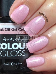 Artistic Colour Gloss Glisten Available At Louella Belle #ArtisticNailDesign #ArtisticColourGloss #PinkNails #Pink #GelPolish #LouellaBelle