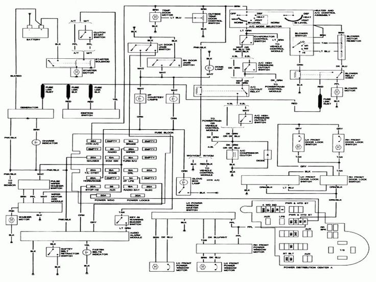 Wiring Diagram For 1993 Chevy S10 Pickup
