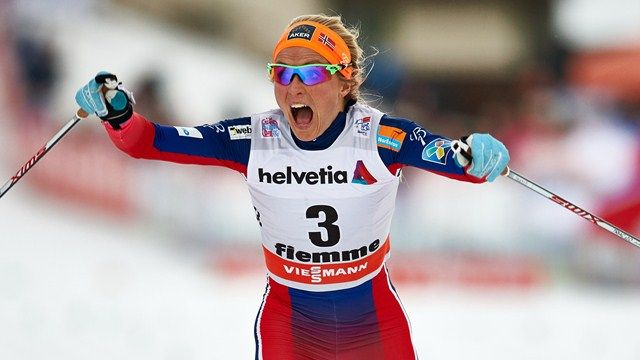 Therese Johaug NOR wins 10 km C in Val di Fiemme