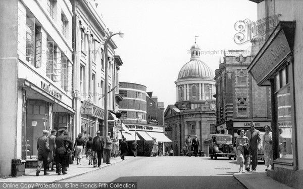 Penzance, The Greenmarket c.1955, from Francis Frith