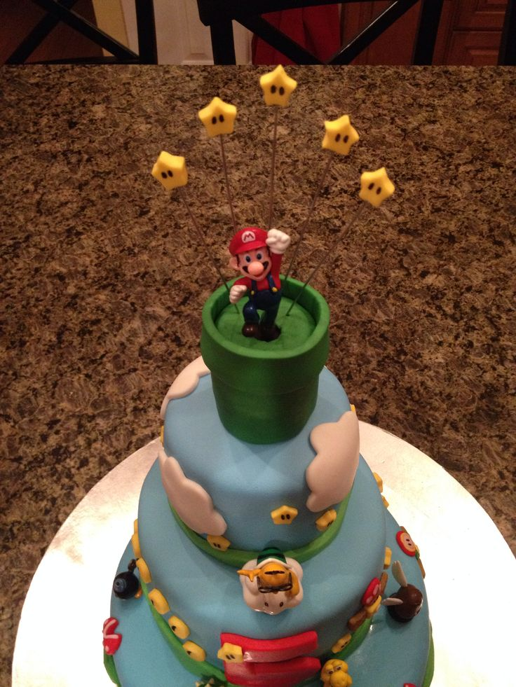17 Best Images About Super Mario Cake Ideas On Pinterest