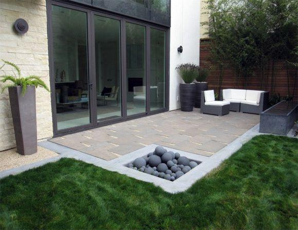 déco et design de jardin minimaliste