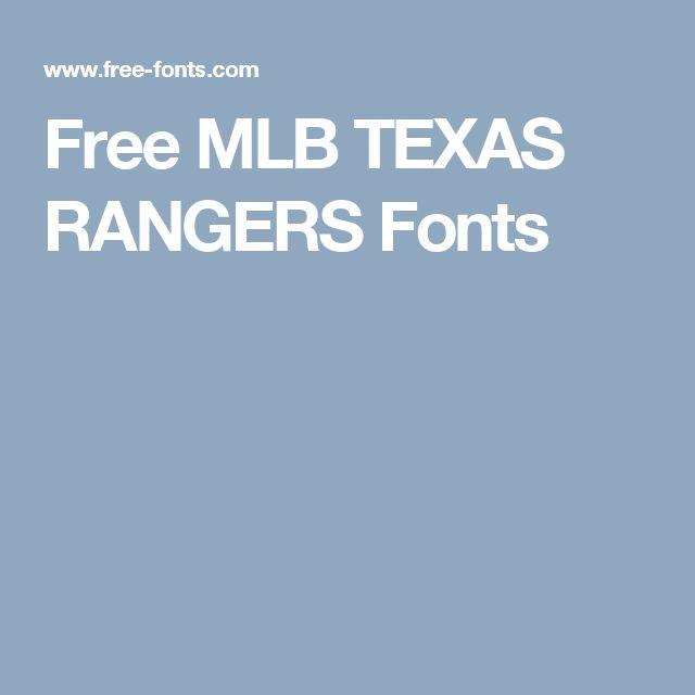 Free Mlb Texas Rangers Fonts Cricut Silhouette Mlb
