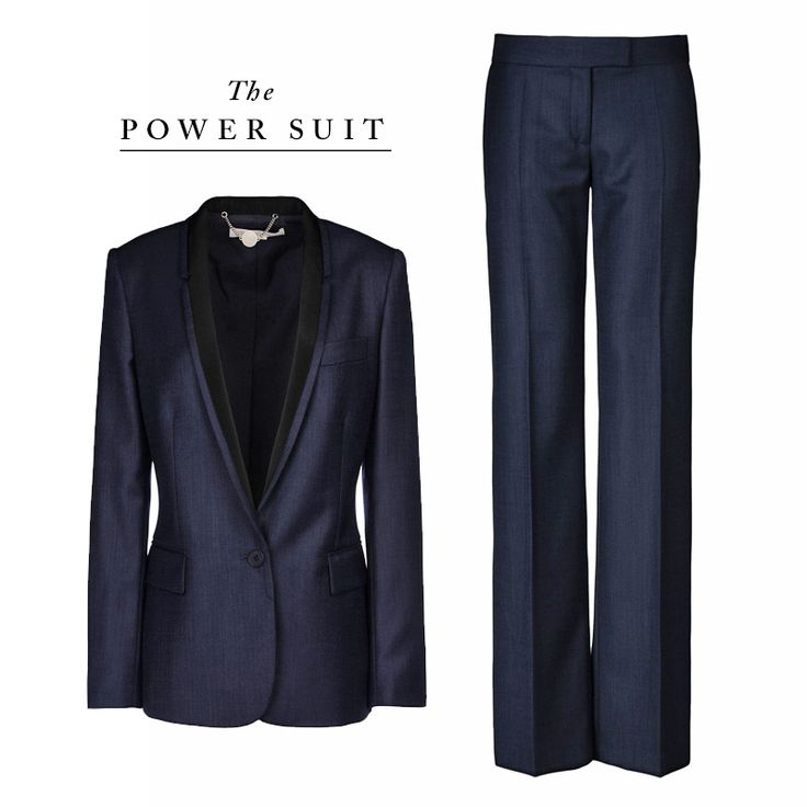 Leave it to Stella McCartney to tailor the perfect one-button suit in a textured navy fabrication, featuring tuxedo-esque lapels. Best part: each piece can stand on its own, so feel free to wear the blazer with jeans and the slacks with a curve-hugging turtleneck.