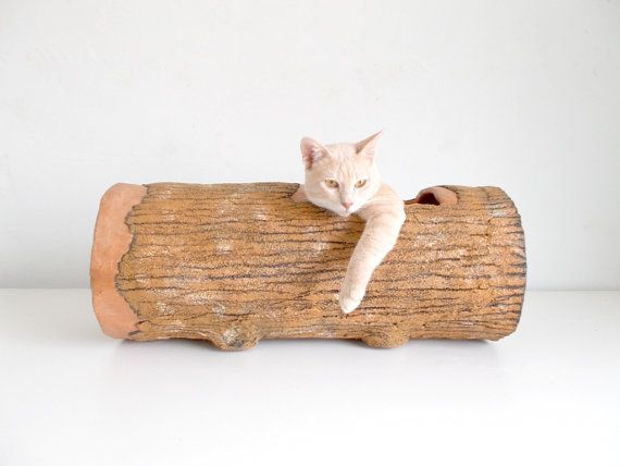 Cat Tunnel  Large Hideout Log, #kittyhome, What a great idea for #furryfriends.