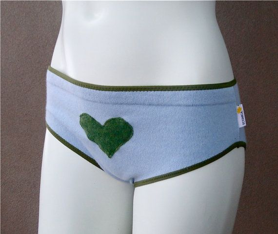 SAMPLE SALE Cashmere classic panties  light blue green by econica, $20.00