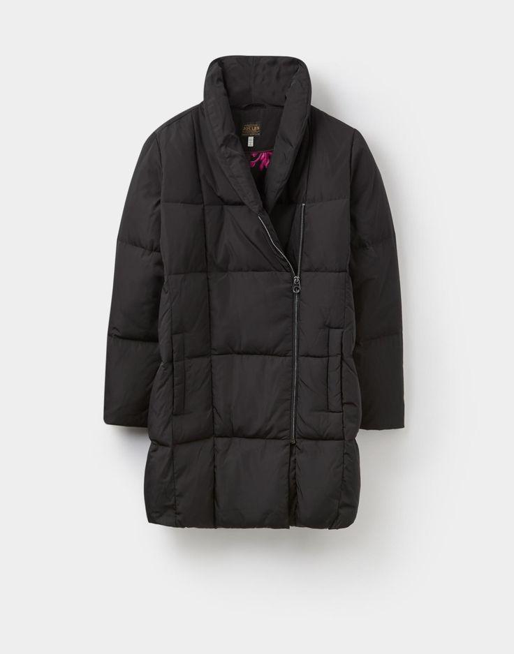 Mottisfont Black Luxury Padded Jacket | Joules UK