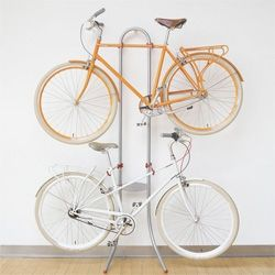 The Michelangelo Two Bike Gravity stand from public let yous store two bikes without having to make holes in your walls.