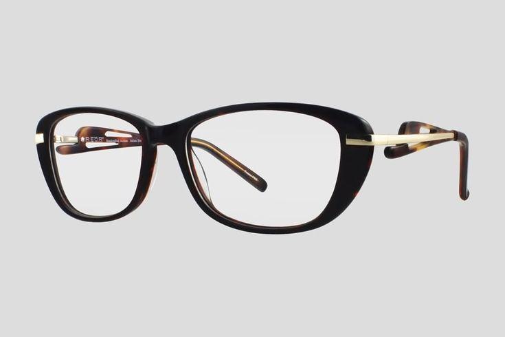 #Brillen van Reor. Dit is de Breedsville (art. nr. F10.704FTU), complete bril vanaf € 34,90. #Montuur van bruin acetaat en goudkleurig RVS. Ook verkrijgbaar in het zwart met gun metal.