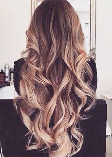 light sombré curls