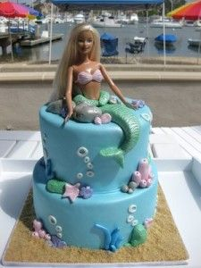 Some cool barbie themed birthday cakes for girls! I made a Barbie cake for my girls when they were little. I would have so made this for them!!