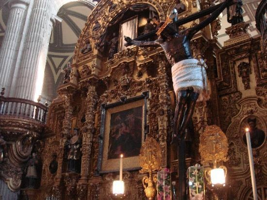 Inside the National Cathedral - Mexico DF
