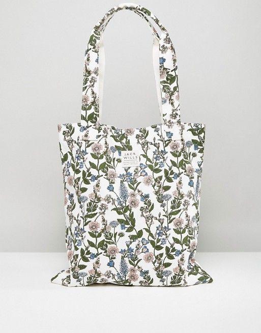 Jack Wills White Floral Tote Bag | ASOS