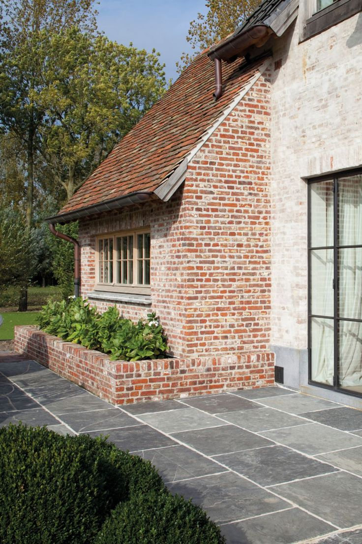 New extension in reclaimed brick and messy pointing exteriors pinterest stone homes sweet - Afbeeldingen van terrassen verwachten ...