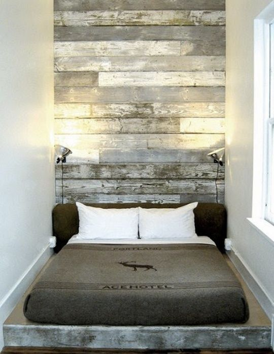 Narrow Space Idea, Reclaimed Wood #bed #bedroom #timber #wood #rustic