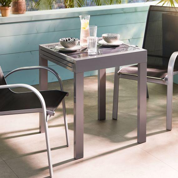 Outdoor Bistrotisch Futura Aluminium Glas Bistrotisch Kleiner Gartentisch Outdoor Mobel