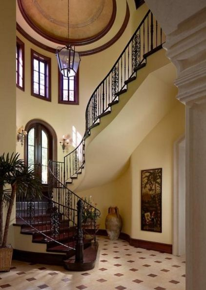 Mediterranean Staircase Tower : Best images about staircases foyers galleries etc