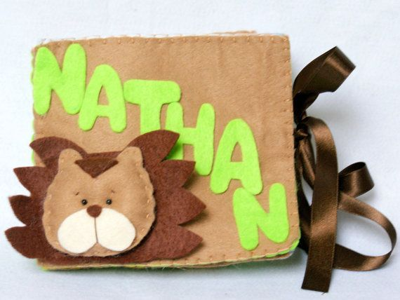 Personalized Kids Felt Name Book  Jungle Animals by BebeBoulevard, $49.00